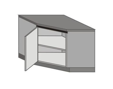 UH_DK-L Base Corner Cabinet with Left Door