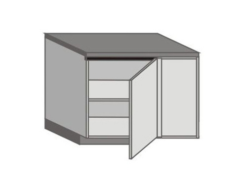 US_DSL-R Base Corner Cabinet with Right Door