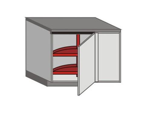 UH_DSR-LB-K3-MC Base Cabinets with Basket