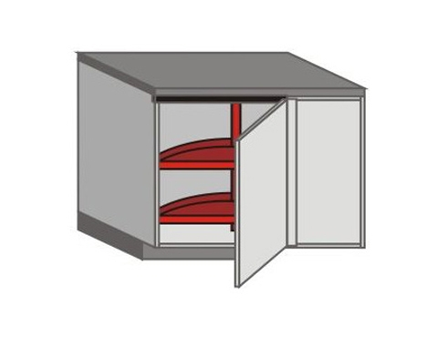 UH_DSL-RB Base Cabinets with Lazy Susan