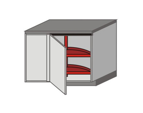 UH_DSR-LB Base Cabinets with Lazy Susan