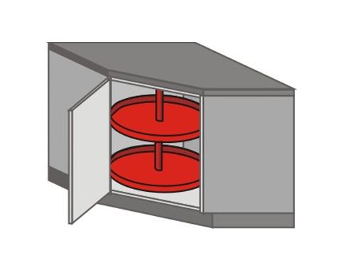 US_DK-LB Base Cabinets with Lazy Susan