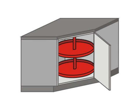 US_DK-RB Base Cabinets with Lazy Susan