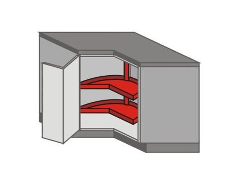 US_DR-LB Base Cabinets with Lazy Susan