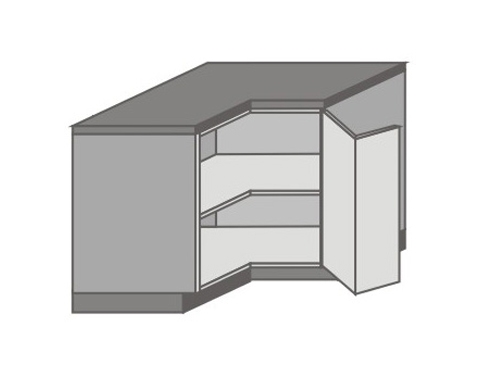 US_DR-R Base Corner Cabinet with Left Door