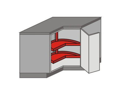 US_DR-RB Base Cabinets with Lazy Susan
