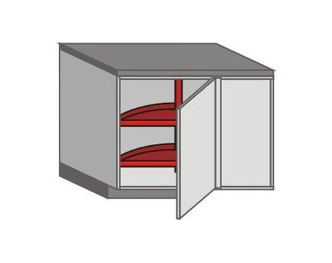 US_DSR-LB-K3-MC Base Cabinets with Basket