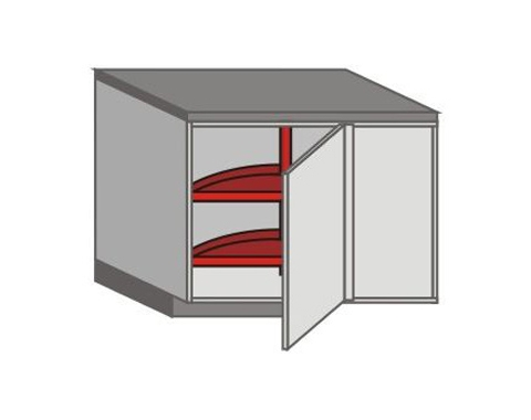US_DSL-RB Base Cabinets with Lazy Susan