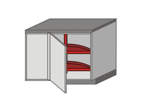 US_DSL-RB-K3-MC Base Cabinets with Basket