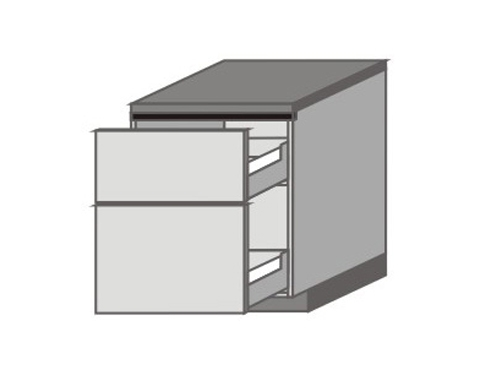 UH_D-MP Base Cabinets with 2 Drawers
