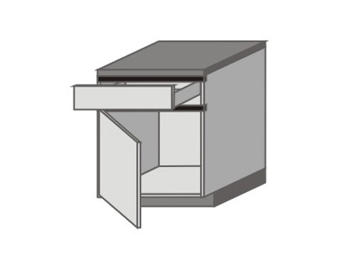 UH_D-ZL Base Cabinets with Left Door