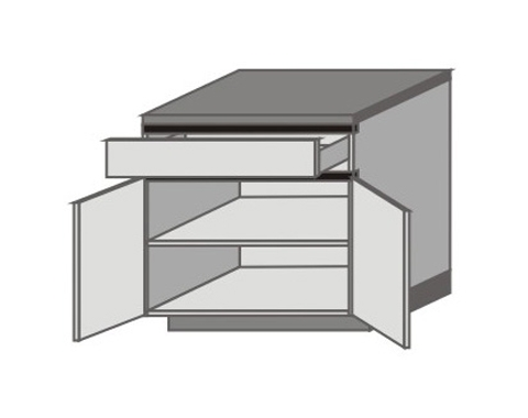 UH_D-ZO Base Cabinets with Double Door