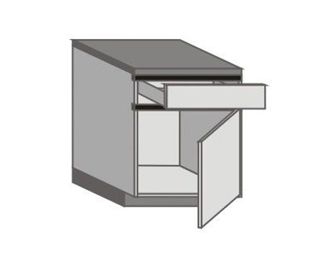 UH_D-ZR Base Cabinets with Right Door