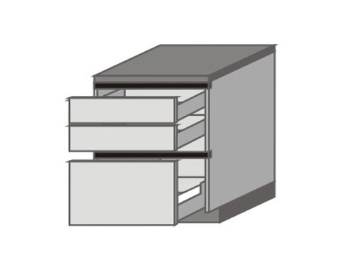 UH_D-ZZP Base Cabinets with 2 Drawers