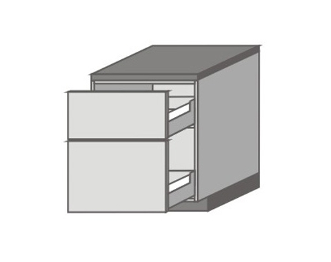 US_D-MU Base Cabinets with 2 Drawers