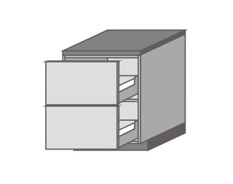 US_D-PP Base Cabinets with 2 Drawers