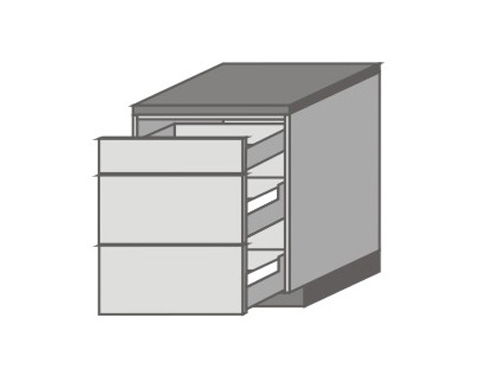 US_D-ZMM Base Cabinets with 3 Drawers