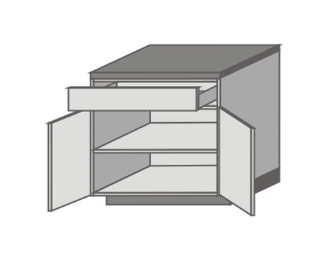 US_D-ZO Base Cabinets with Double Door