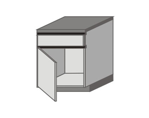 UH_D-ZGL Base Cabinets with Left Door