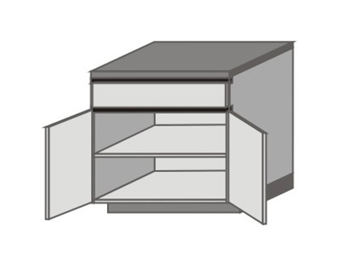 UH_D-ZGO Base Cabinets with Double Doors