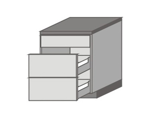 US_D-ZGMM Base Cabinets with Double Drawer