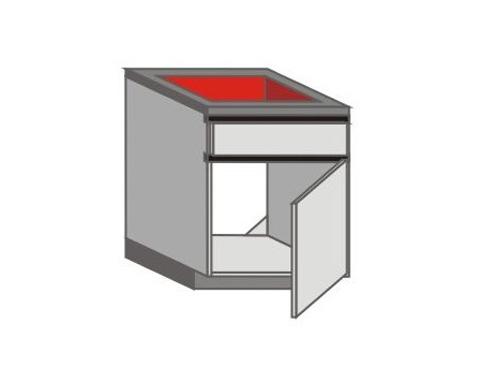 UH_Z-ZGR Base Cabinets with Left Door