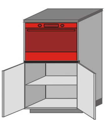 UH_SDT-NO Short Pantry/Appliance Cabinets with Double Door