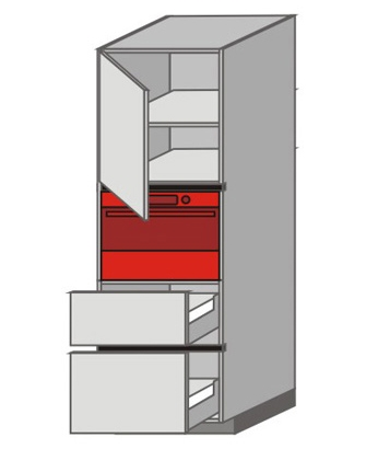 UH_WUTC-LNMP Tall Pantry/Appliance Cabinets