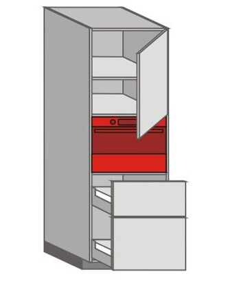 US_WUTC-RNPP Tall Pantry/Appliance Cabinets