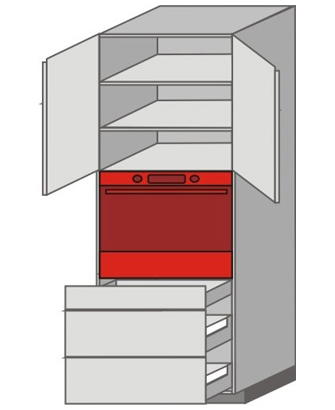 US_WUT-ONZMM Tall Pantry/Appliance Cabinets