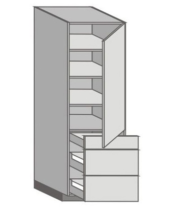 US_WU-RZMM Tall Cabinet with Right Door