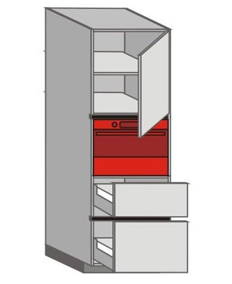 UH_WVTC-RNMP Tall Pantry/Appliance Cabinets