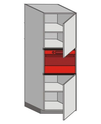 UH_WVTC-RNR Tall Pantry/Appliance Cabinets