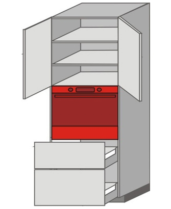 US_WVT-ONMU Tall Pantry/Appliance Cabinets