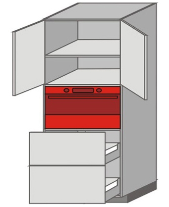 US_WVT-ONPP Tall Pantry/Appliance Cabinets