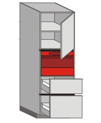 UH_WXTC-RNMP Tall Pantry/Appliance Cabinets