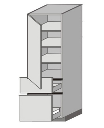 UH_WX-LMP Tall Cabinet with Left Door
