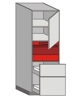 US_WXTC-RNMU Tall Pantry/Appliance Cabinets
