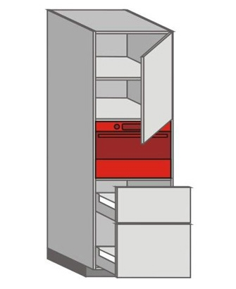 US_WXTC-RNPP Tall Pantry/Appliance Cabinets