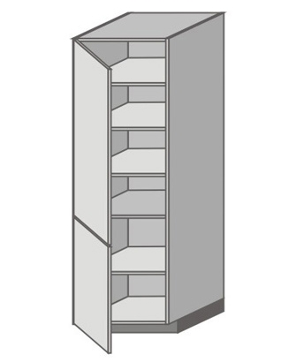 US_WX-LL Tall Cabinet with Left Door