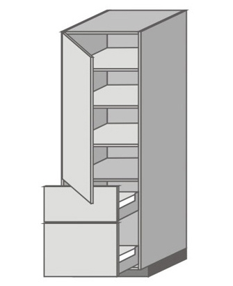 US_WX-LMU Tall Cabinet with Left Door