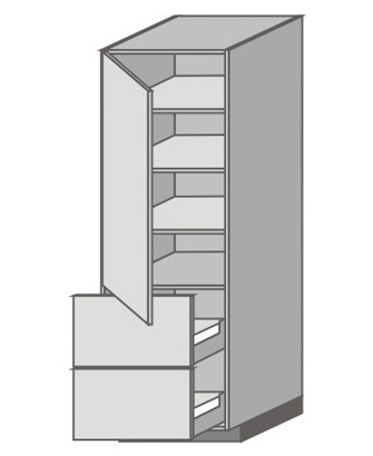 US_WX-LPP Tall Cabinet with Left Door