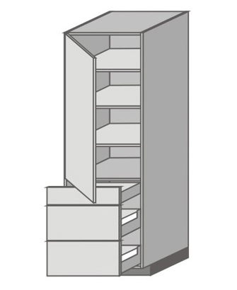 US_WX-LZMM Tall Cabinet with Left Door