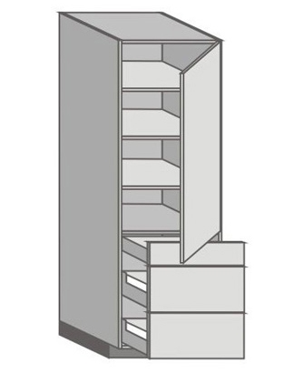 US_WX-RZMM Tall Cabinet with Right Door