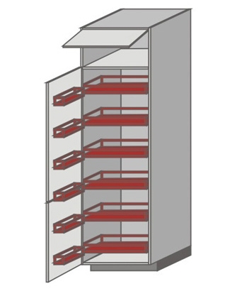US_WZA-WFLL Tall Cabinet with Pantry