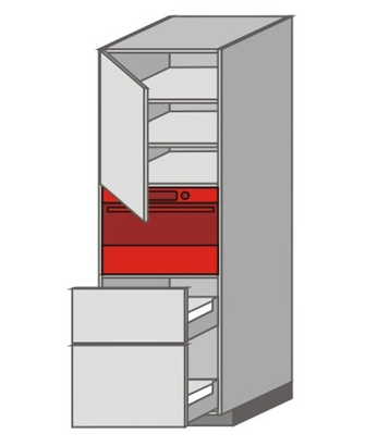 US_WZTC-LNMU Tall Pantry/Appliance Cabinets