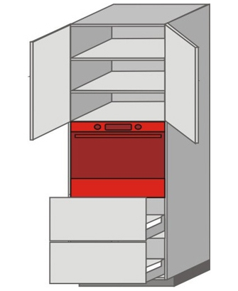 US_WZT-ONPP Tall Pantry/Appliance Cabinets