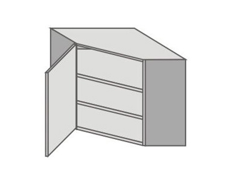 US_GVK70/L Left Door Wall Cabinets Corner