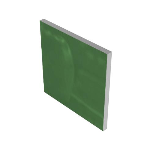 GREEN GLASS INSERT #0667