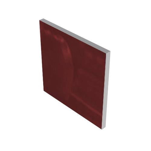 DARK RED GLASS INSERT #3004
